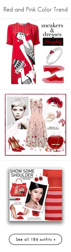 """""""Red and Pink Color Trend"""" by yours-styling-best-friend ❤ liked on Polyvore featuring Prada, Holly Fulton, Edie Parker, Anastazio, Angelo, Salvatore Ferragamo, Angela Valentine Handbags, Red Camel, Rock 'N Rose and Gianvito Rossi"""