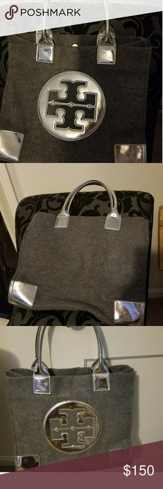 Large Ella Tote Authentic! Excellent used condition! Love this tote! Barely used so I figured someone will or can use it more than me. I actually carried my laptop in it a few times. Perfect for carryon bag, out shopping etc. Tory Burch Bags Totes