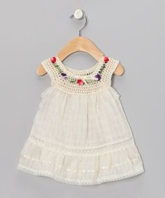 "Take a look at this Natural Lucila Yoke Dress - Infant, Toddler & Girls on zulily today! [ ""Little Cotton Dress Natural Lucila Yoke Dress - Infant, Toddler & Girls"", ""Take a look at this Natural Lucila Yoke Dress - Infant, Toddler & Girls on zulily today!"", ""So cute for my Eleanor"", ""something special every day"" ] #<br/> # #Crochet #Toddler,<br/> # #Infant #Dresses,<br/> # #Baby #Dress,<br/> # #The #Dress,<br/> # #Toddler #Fashion,<br/> # #Infant #Toddler,<br/> # #Toddler #Girls,<br/..."