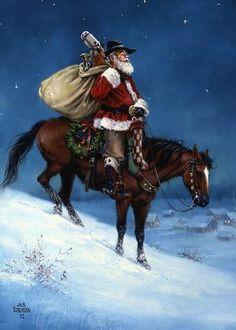 Рождество по–ковбойски. Художник Джек Соренсон