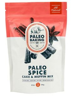 Paleo Baking Company Paleo Spice Cake Muffin Mix >>> More info could be found at the image url. (This is an affiliate link) Apple Spice Cake, Pumpkin Spice Muffins, Spice Cake Mix, Spice Mixes, Baking Packaging, Brand Packaging, Packaging Design, Pretty Packaging, Product Packaging