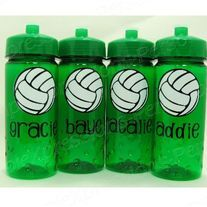Volleyball personalized kids water bottle from SimpleXpressions-Personalized! Diy Volleyball Gifts, Volleyball Birthday Party, Volleyball Mom, Volleyball Quotes, Senior Night Gifts, Soccer Inspiration, Team Bonding, Team Mom, Team Gifts