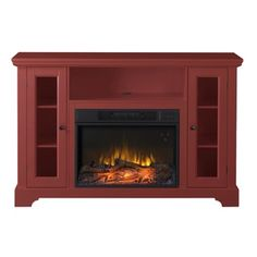 Queenston 51-inch Wide Media Fireplace - 17511675 - Overstock.com Shopping - Great Deals on Indoor Fireplaces