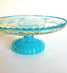 Fast Deliver Fenton Turquoise Opalescent Hobnail Ruffled Edge Candle Dish Commodities Are Available Without Restriction Glass