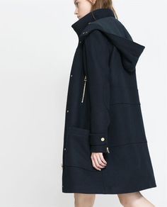 WOOL PARKA WITH ZIP