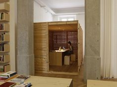 The Federico Delrosso Architects Studio in Milan is on the first storey of a nineteenth-century building in the heart of the city. Interior Architecture, Interior Design, Italian Style, Office Interiors, Handmade Wooden, Minimalism, Shelves, Milan Italy, Office Spaces