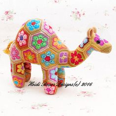 Gobi the African Flower Camel Crochet Pattern