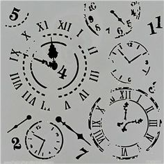 This Mini Time Travel Stencil & Template is great for card-making, doodling, tracing, stenciling, sponging, stippling, spritzing, chalking and more.