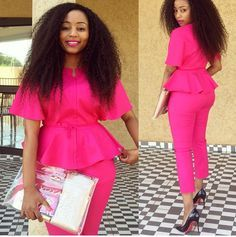 Ghanaian Blogger, Tracy Iddrisu and CEO of Material Girls fashion shop Charity Baaitse both looked pretty in a pink Kimono top and pink pants.
