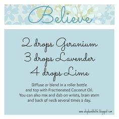 #oils4everyone Believe Blend to help focus on one thing at a time.