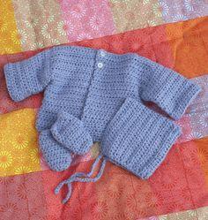 Simple Baby Set - free crochet pattern