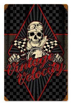 Vintage Vintage Velocity Metal Sign, $29.98 (http://www.jackandfriends.com/vintage-vintage-velocity-metal-sign/)