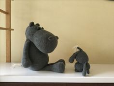 Amigurumi nijlpaard van JeanieHugs.