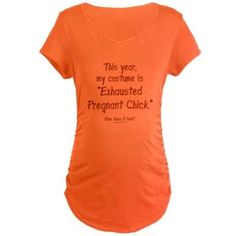 Pregnant Halloween costume Maternity T-Shirt