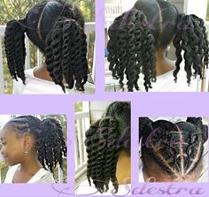 Love the ponytails… | Black Women Natural Hairstyles