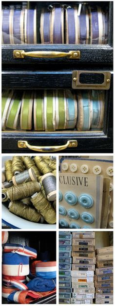 Vintage haberdashery - Peppergreen Antiques
