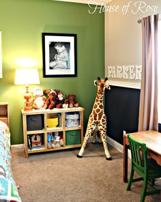Like the green for the playroom.  {Big Boy Room} The Re-do: From Toddler to Kindergartner
