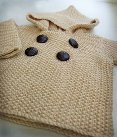seed stitch baby jacket by small::bird pattern Ravelry Baby Patterns, Knitting Patterns Free, Free Knitting, Baby Knitting, Crochet Patterns, Free Pattern, Knitting For Kids, Crochet For Kids, Knitting Projects