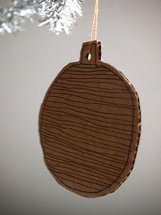 Cardboard ornament. Perfect.