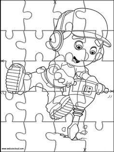 Printable Jigsaw Puzzles To Cut Out For Kids Handy Manny 16 Coloring Pages