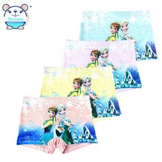 Kids Children Underwear Girls 2017 Princess Underwear Kids Panties Girls' Briefs Child Boxer Panties Children Clothing Anna Elsa