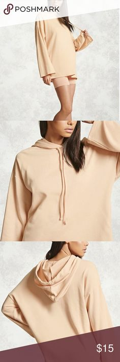 Nude Box-Sleeved Hoodie This Kanye-esque hoodie is super trendy yet comfy. I would love to keep it but I ordered it online in a size that didn't fit me all that well. Please give this brand new hoodie a brand new home! I will add pictures of the actual product if asked. Forever 21 Tops Sweatshirts & Hoodies