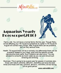 Get your Aquarius yearly horoscope.