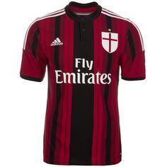 AC Milan adidas Red   Black Home Official Replica Mens Soccer Jersey  Tribute fe9f30ce6