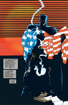 The Dark Knight Returns words by Frank Miller. Art by Frank Miller, Klaus Janson and Lynn Varley. Comic Book Artists, Comic Book Characters, Comic Book Heroes, Comic Artist, Comic Character, Comic Books Art, Dc Heroes, Im Batman, Superman