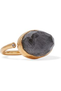 Katerina Makriyianni - Gold-plated, labradorite and zircon ring