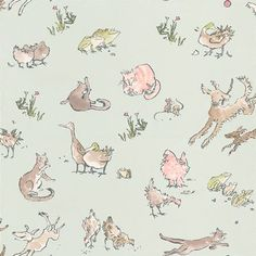Quentin's Menagerie wallpaper by Osborne & Little