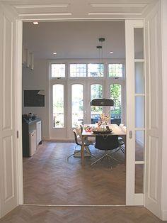 1000 images about schuifdeuren on pinterest entrees - Keuken en woonkamer in dezelfde kamer ...