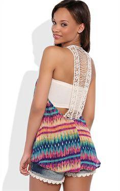 Flowy Tank Top with Crochet Back