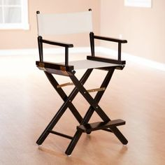 How to Paint a Folding Wooden Canvas Chair Chair makeover