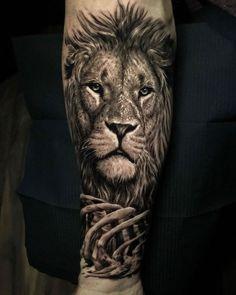 50 eye-catching lion tattoos that make you want ink - KickAss Things - 50 a . - 50 eye-catching lion tattoos that make you fancy ink – KickAss Things – 50 eye-catching lion ta - Lion Forearm Tattoos, Lion Head Tattoos, Mens Lion Tattoo, Lion Tattoos For Men, Lion Tattoo Half Sleeve, Lion Sleeve, Japanese Sleeve Tattoos, Best Sleeve Tattoos, Ink Tattoos