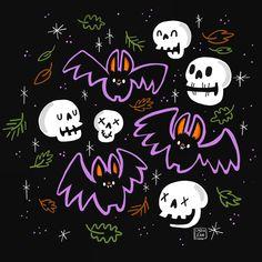 Super Cute Halloween Bat Illustration - Halloween Illustration  by Lydia Jean Art
