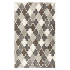 """Anchor your dining set or living room seating group in style with this hand-tufted wool rug, showcasing a quatrefoil motif in a neutral palette.   Product: RugConstruction Material: WoolColor: Safari tanFeatures:  Hand-tuftedHigh-low pile Made in India      Pile Height: 0.48"""" Note: Please be aware that actual colors may vary from those shown on your screen. Accent rugs may also not show the entire pattern that the corresponding area rugs have.Cleaning and Care: Vacuum regularly with ..."""