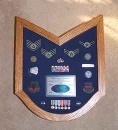My Shadow Box Looked Like This But Also Had Four Coins In It As Well Flag Display Case, Display Boxes, Military Retirement, Retirement Ideas, Military Life, Military Shadow Box, Military Crafts, Christmas Shadow Boxes, Diy Shadow Box