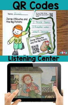 March QR Codes for Your Listening Center with Student Response Sheets  This set contain popular March themed stories, St.Patrick's Day, Being Lucky, Weather and more. This is a perfect set for the Tech Savvy Classroom! Students love Technology and these QR Codes are easy and fun for students to use.