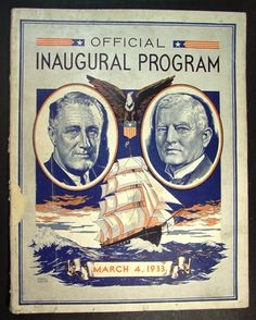 new deal programs Posters | Historic Official Inaugural Program