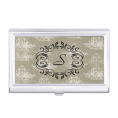 Cyanotype santa monica pier business card holder zizzling zazzle elegant beige and white toile business card holder colourmoves