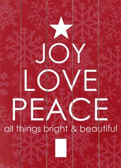 joy - love - peace