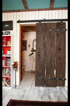 Love the rustic look of the door