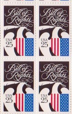 Bill of Rights Set of 4 x 25 Cent US Postage Stamps NEW Scot 2421 . $7.95. Bill…
