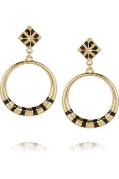 Noir Jewelry Gold-plated hoop earrings