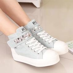Buy 'Renben � Rhinestone Hidden Wedge Platform Sneakers' with Free International Shipping at YesStyle.com. Browse and shop for thousands of Asian fashion items from China and more!