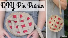 Diy Pie Purse  •  Free tutorial with pictures on how to make a pouch, purse or wallet in under 60 minutes