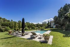 Mas with pool for sale in Oppede, Janssens Immobilier Provence Real Estate Agency, Real Estate Marketing, Vaison La Romaine, Living Room With Fireplace, Open Plan Kitchen, Stunning View, Wine Cellar, Property For Sale, Swimming Pools