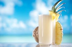 Piña Colada Smoothie with agave nectar instead of honey