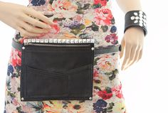 Fashion Recycling: Wie aus alten Lederhosen-Resten eine Umhänge-/Gürteltasche wurde: Ansicht Gürteltasche